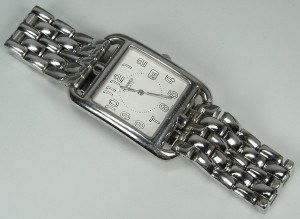 Lot 391: Hermes Stainless Steel Cape Cod Watch