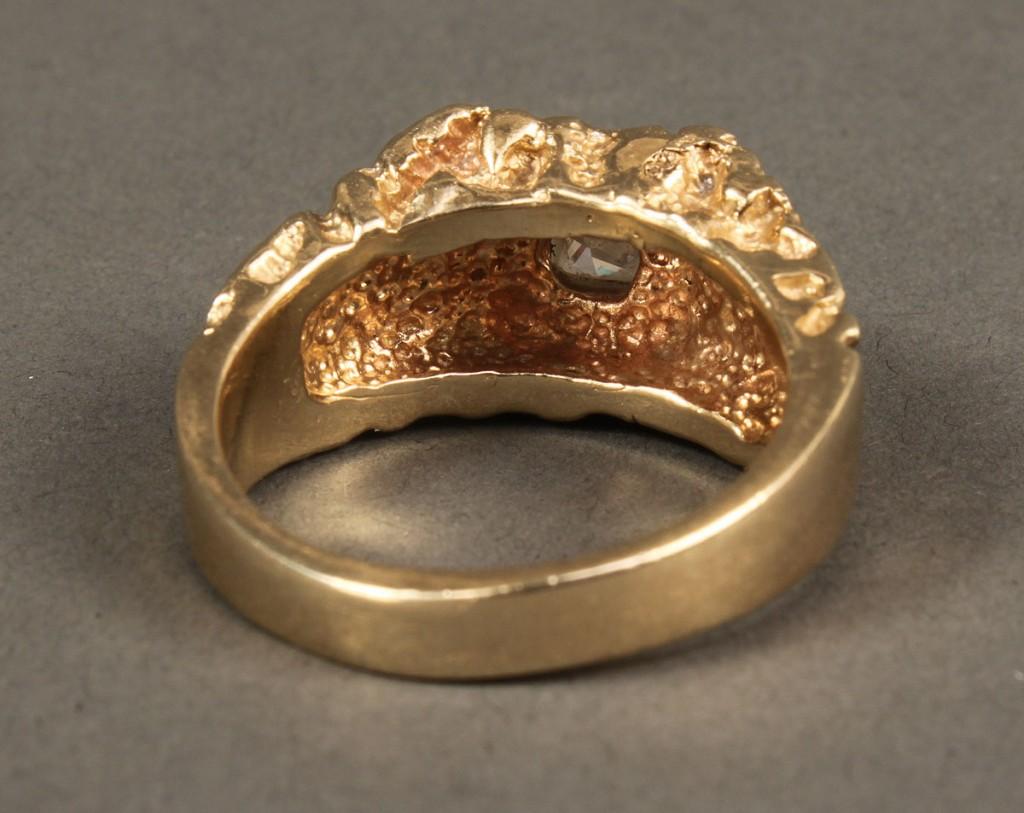 Lot 398: 14K  Princess-cut Diamond Ring