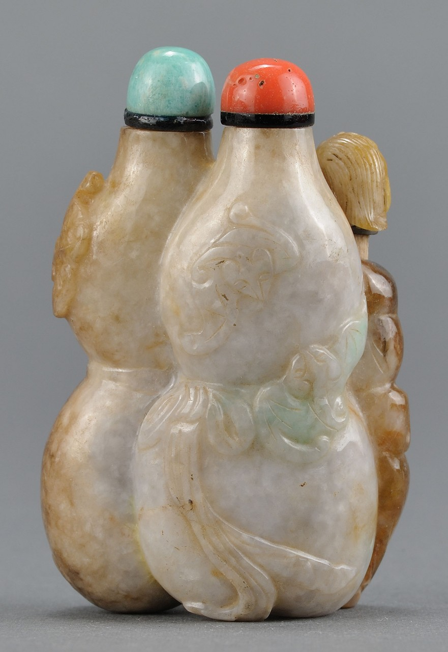 Lot 3: Chinese Carved Jade Triple Bottle Shape
