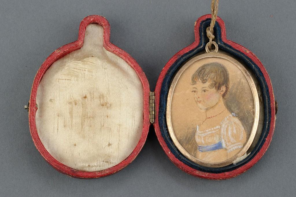 Lot 405: Portrait Miniature on paper