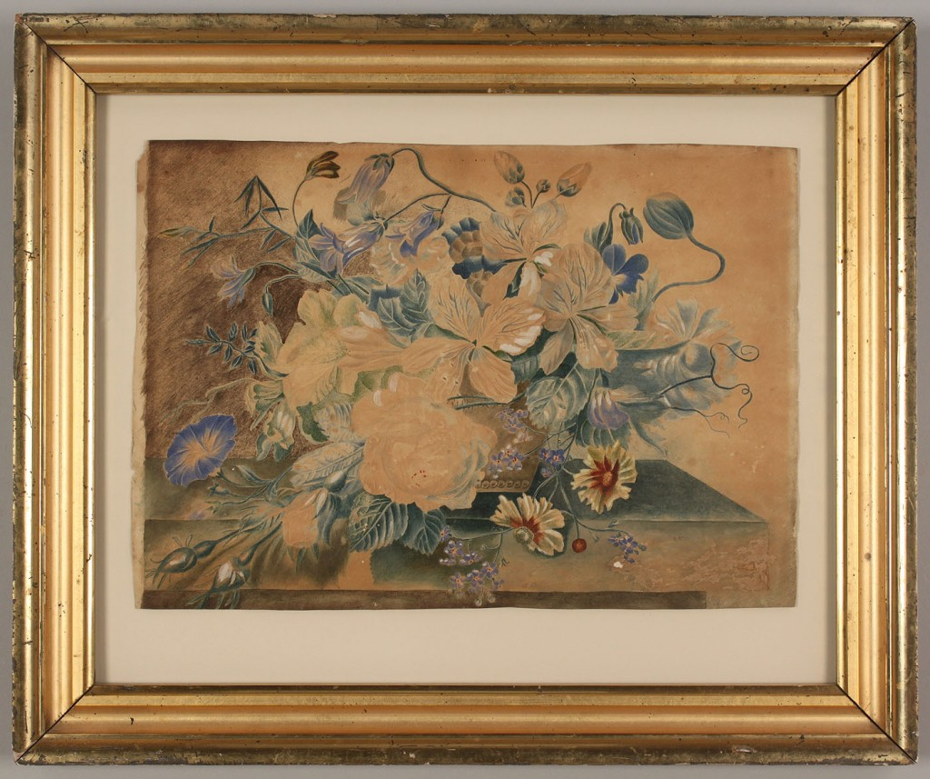 Lot 408: Theorem, still life with morning glories