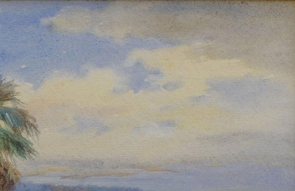 Lot 409: F.A. Bradley coastal watercolor
