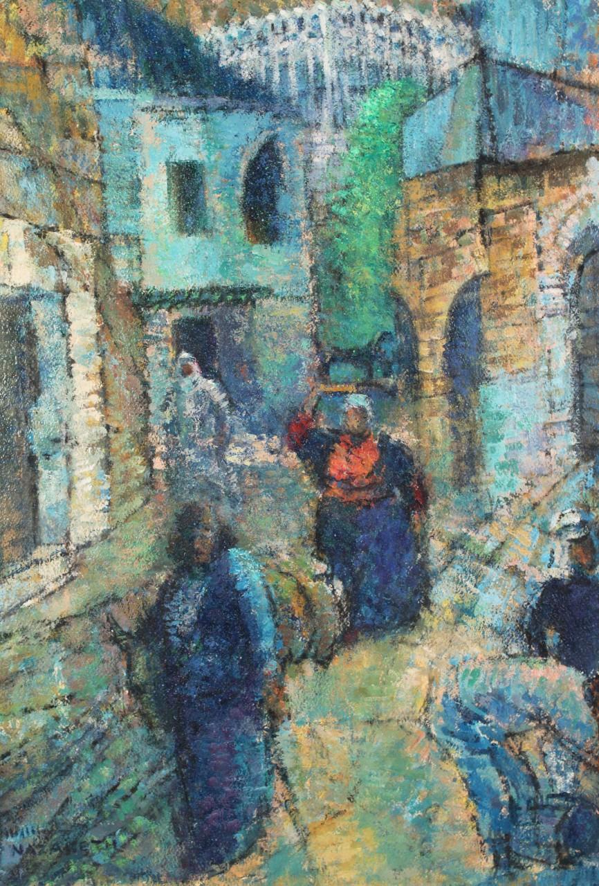 "Lot 414: Pastel titled ""Nazareth"", Harry Zee Hoffman"