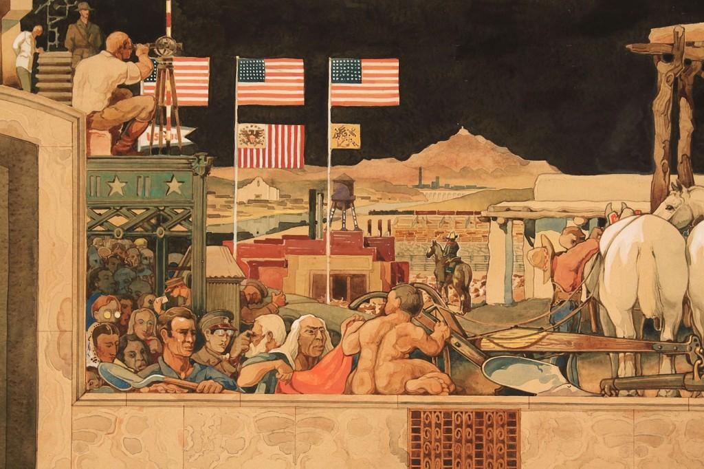 Lot 415: Horst Schreck, study for a Texas mural