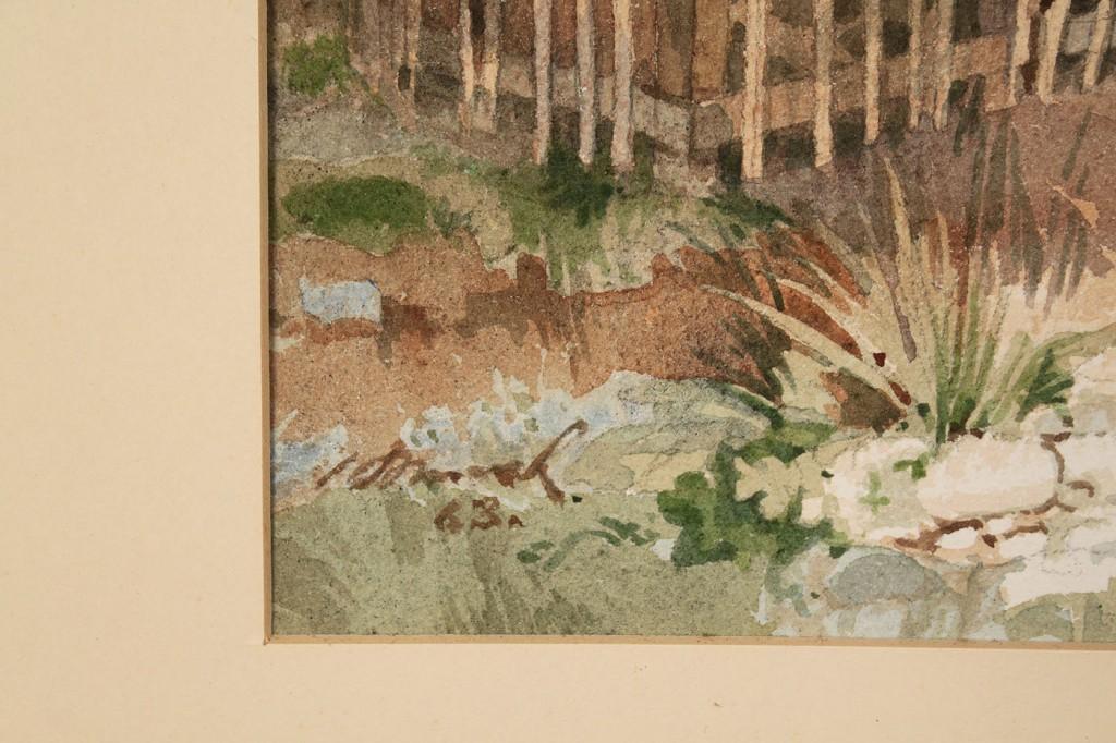 Lot 417: 2 Horst Schreck Southwestern Paintings