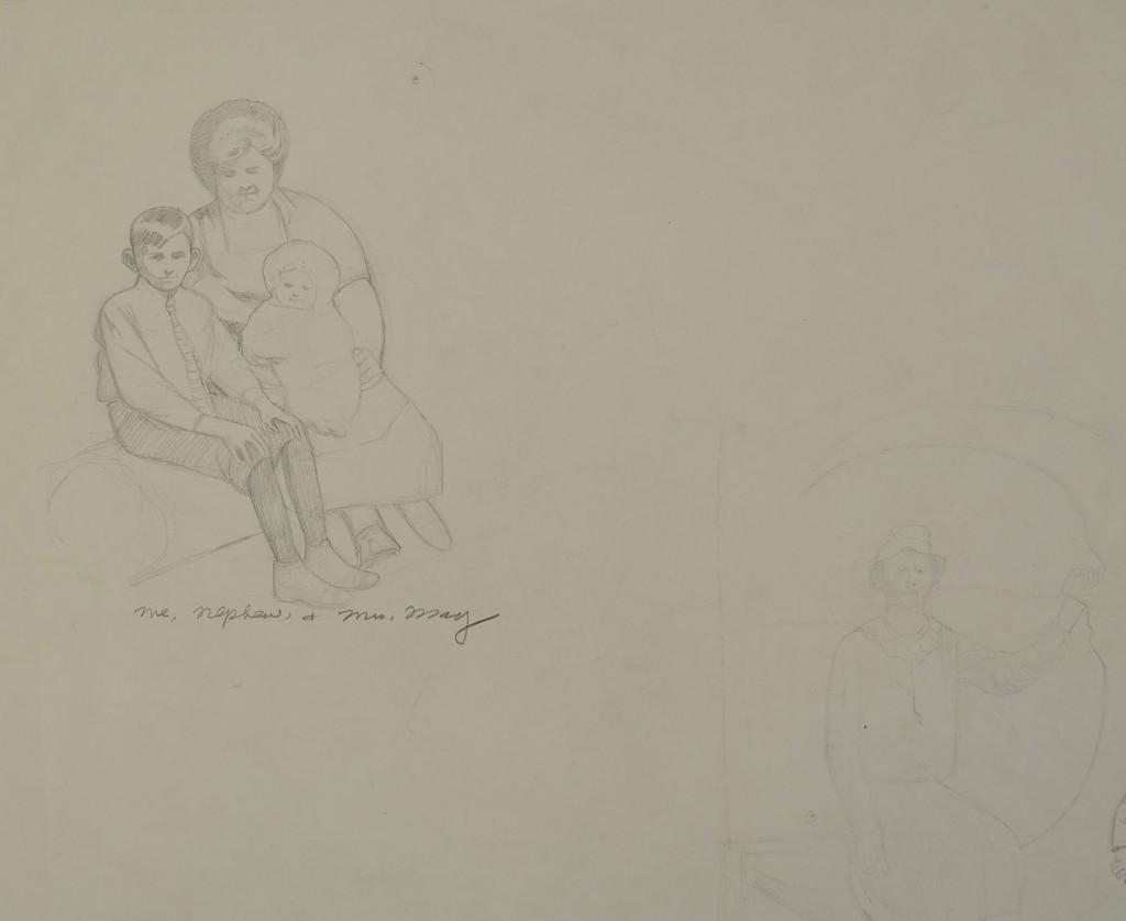 Lot 425: Carroll Cloar drawing