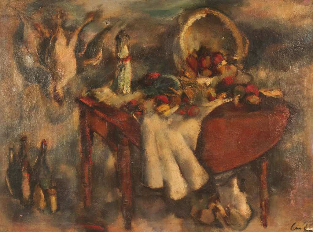 Lot 427: Charles Cagle still life, oil on canvas