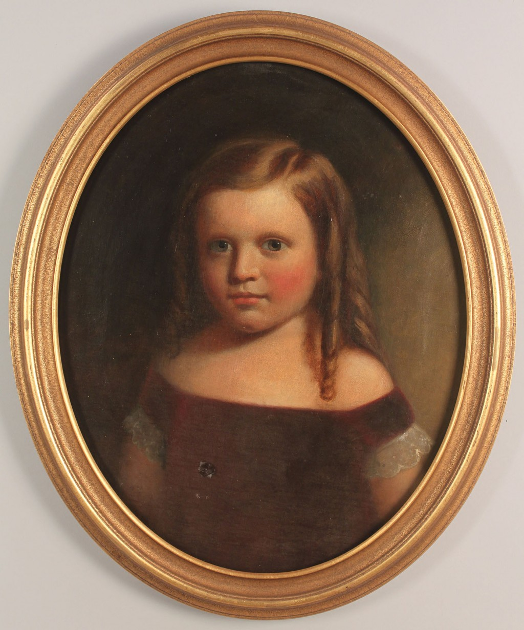 Lot 433: A. B. Rockey, portrait of a little girl