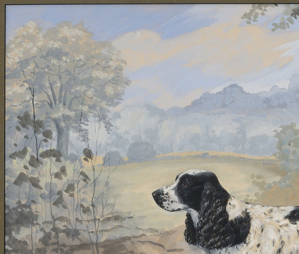 Lot 435: William C. Grauer portrait of a spaniel
