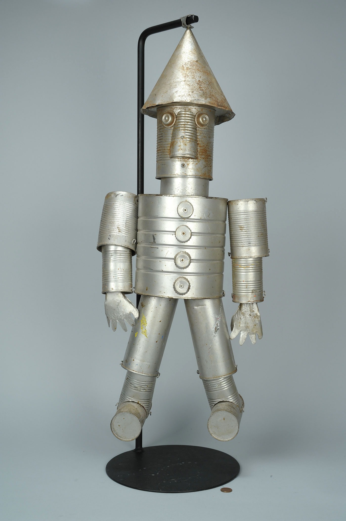 Lot 439 folk art tin man or robot for Tin man out of cans