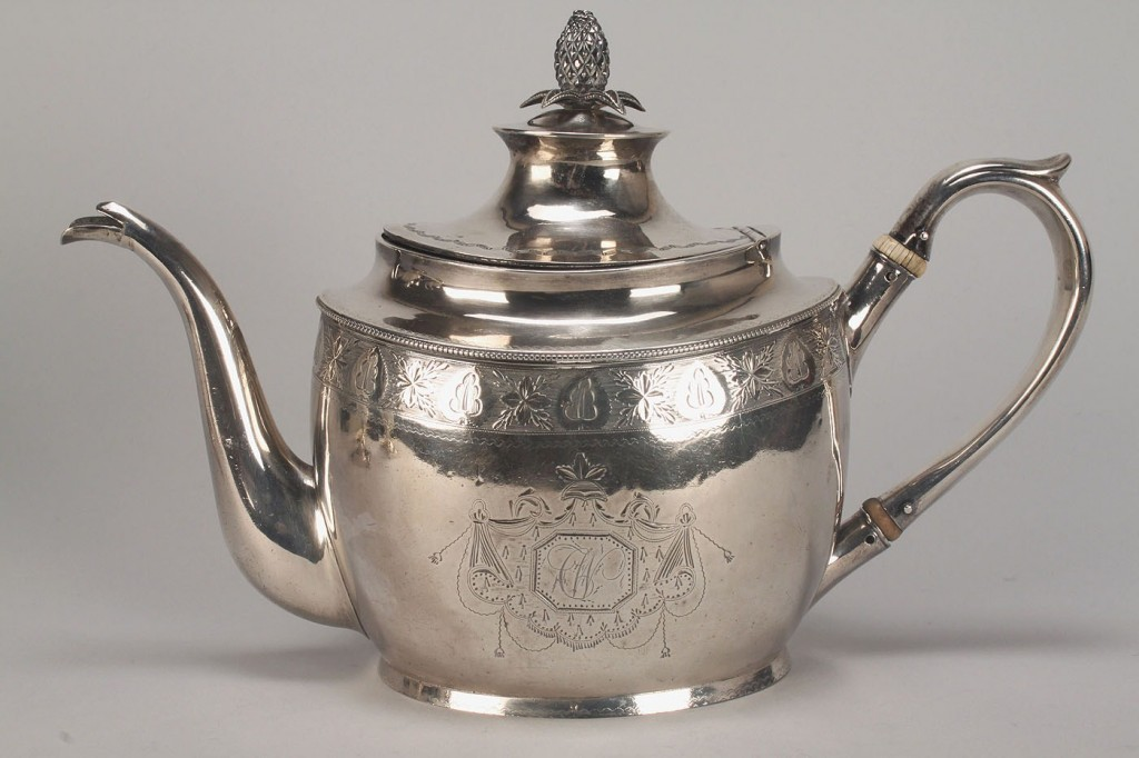 Lot 43: Assembled American Coin Silver Tea Set