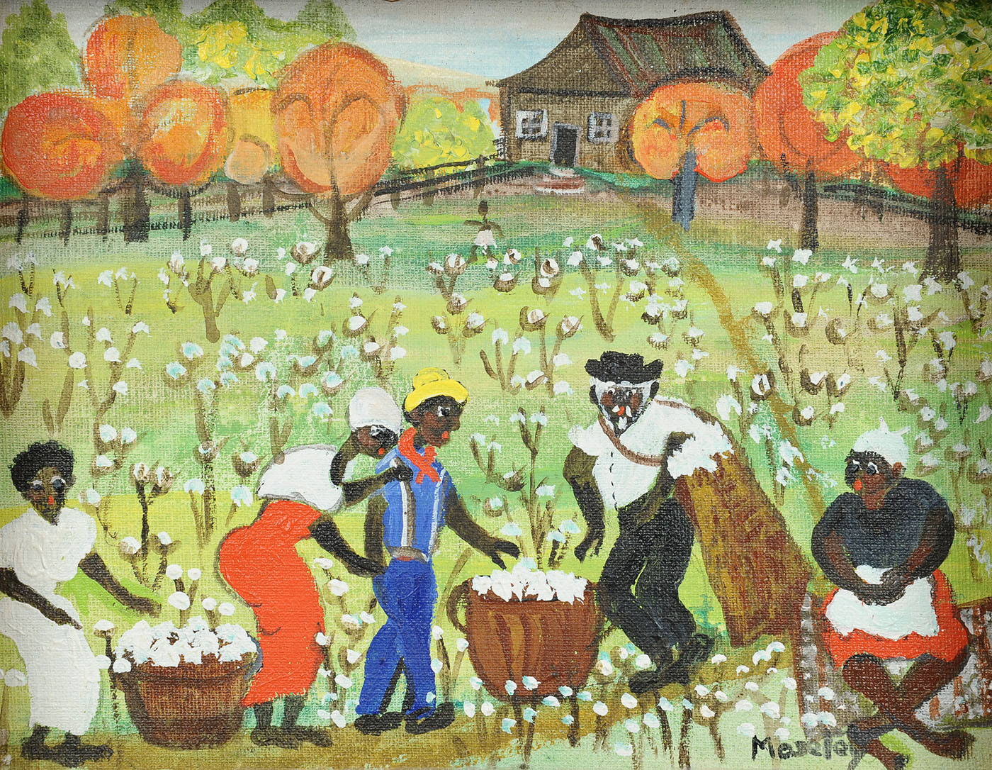 Lot 442 Alice Latimer Moseley Painting Cotton Pickers