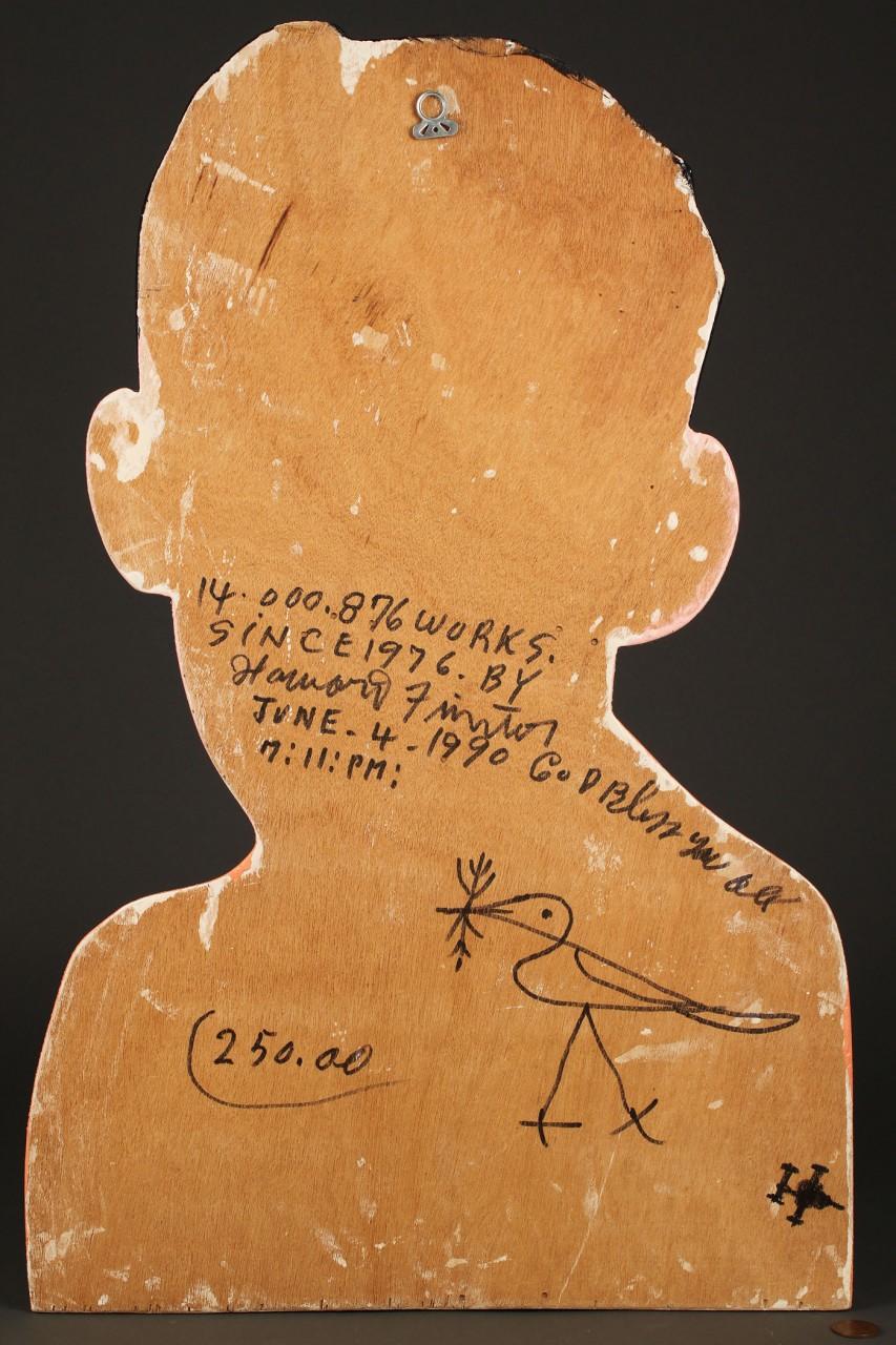 Lot 445: Howard Finster Self-Portrait