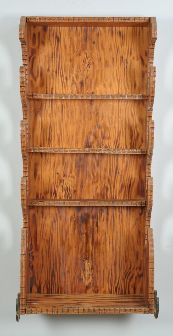 Lot 449: Howard Finster Gun Rack Shelf w/ Horseshoes