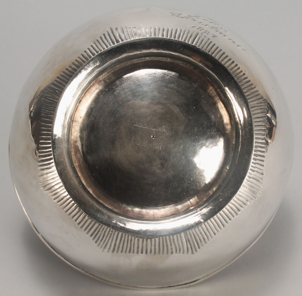 Lot 44: Boston Federal coin silver bowl