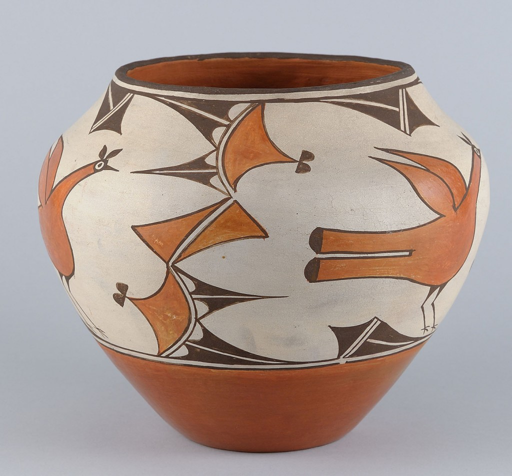 Lot 458: Southwest Polychrome Pottery  Jar, Zia