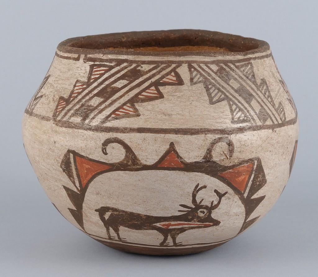 Lot 459: Southwest Polychrome Pottery  Jar, Zuni