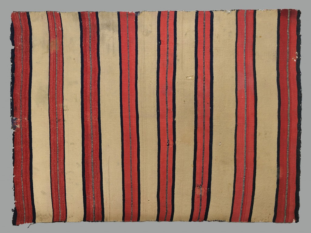 Lot 460: Late Classical Navajo Man's Wearing Blanket