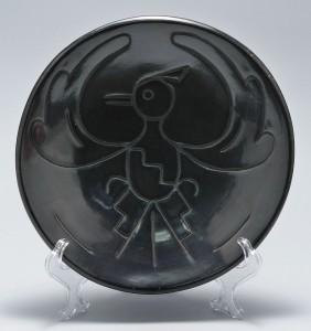 Lot 462: San Ildefonso Pueblo Indian Pottery Plate, Juanita
