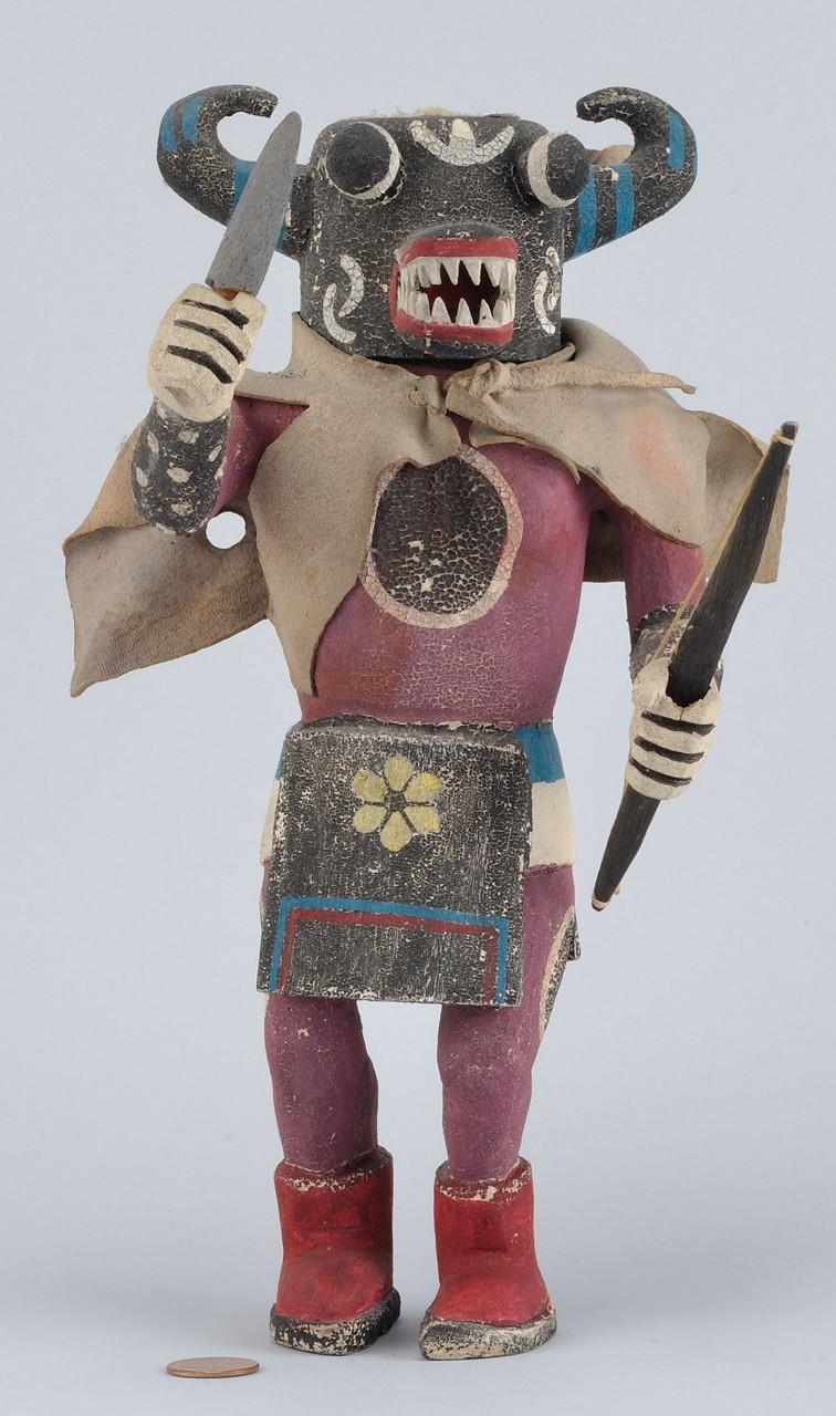 Lot 467: Hopi Carved and Polychrome Kachina Doll