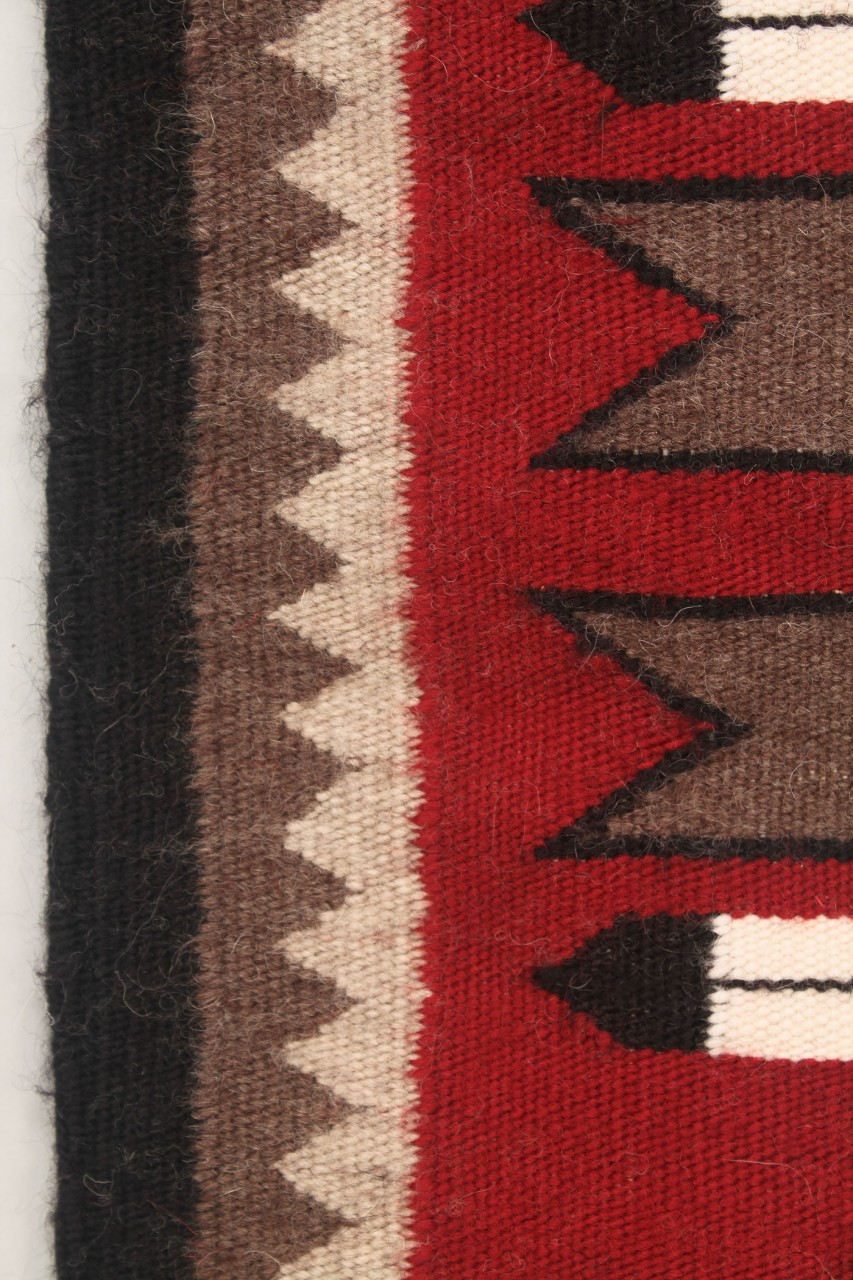 Lot 471: Navajo Weaving/Rug, Diamond & Feather Design