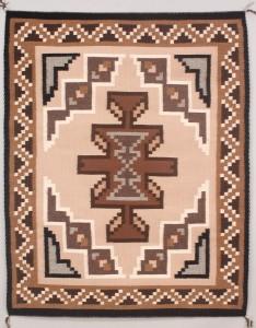 Lot 472: Navajo Weaving/Rug, Geometric Design