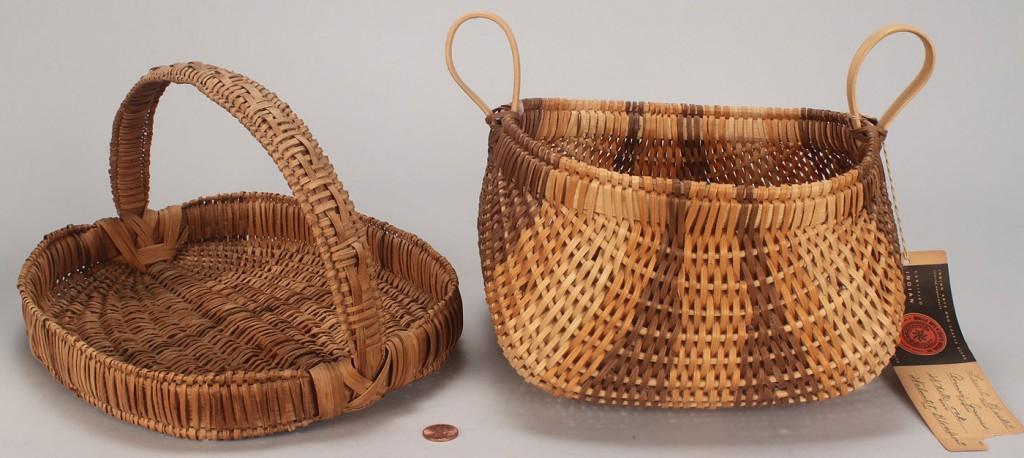 Lot 476: 2 Baskets, Cherokee & Early Oval