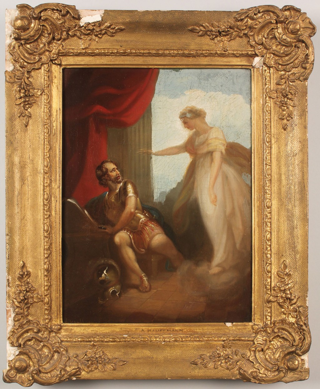 Lot 487: Manner of Angelica Kauffmann, Classical Painting