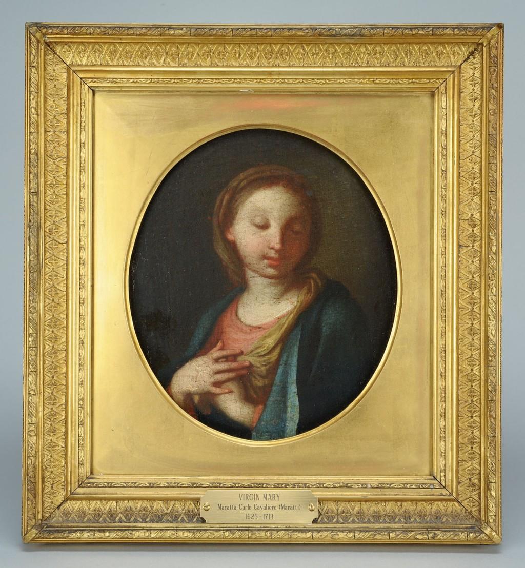 Lot 488: Manner of Carlo Maratta, Virgin Mary, Italian,17th