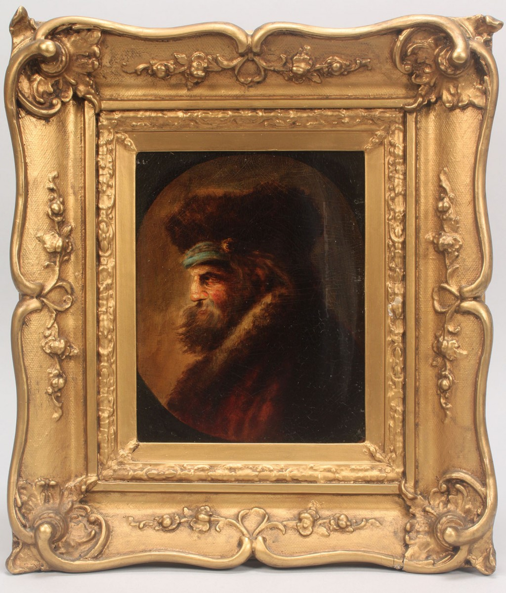 Lot 489: Dutch School, 17th c. style, oil on panel, Portrai