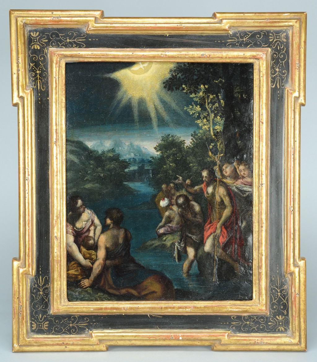 Lot 490: Italian Mannerist School, Baptism Of Christ, 17th