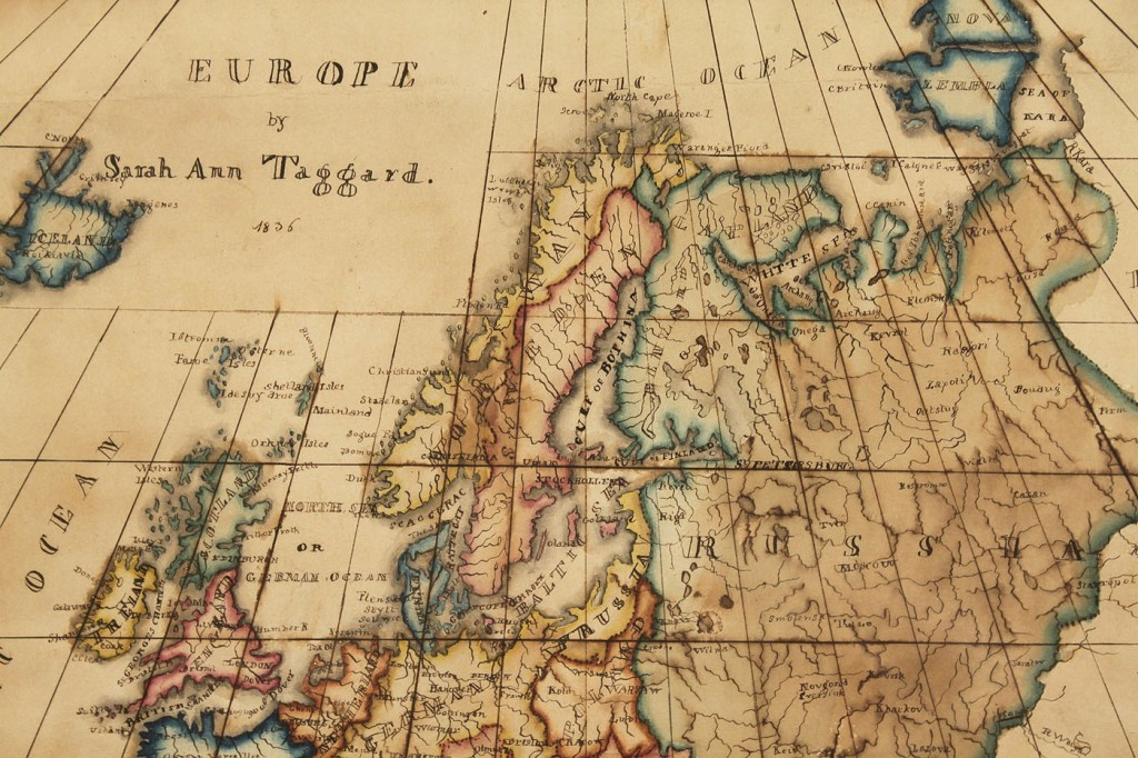 Lot 496: Schoolgirl Map of Europe, S. Taggard