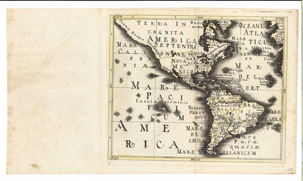 Lot 499: Four 17th-18th C. Maps: Desing, Manesson-Mallett