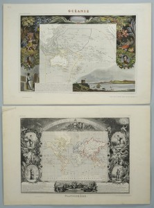Lot 501: 2 Levasseur maps, Western U.S. and Pacific, 19th c
