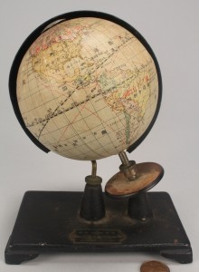 Lot 504: Miniature Time Globe, early 20th c.