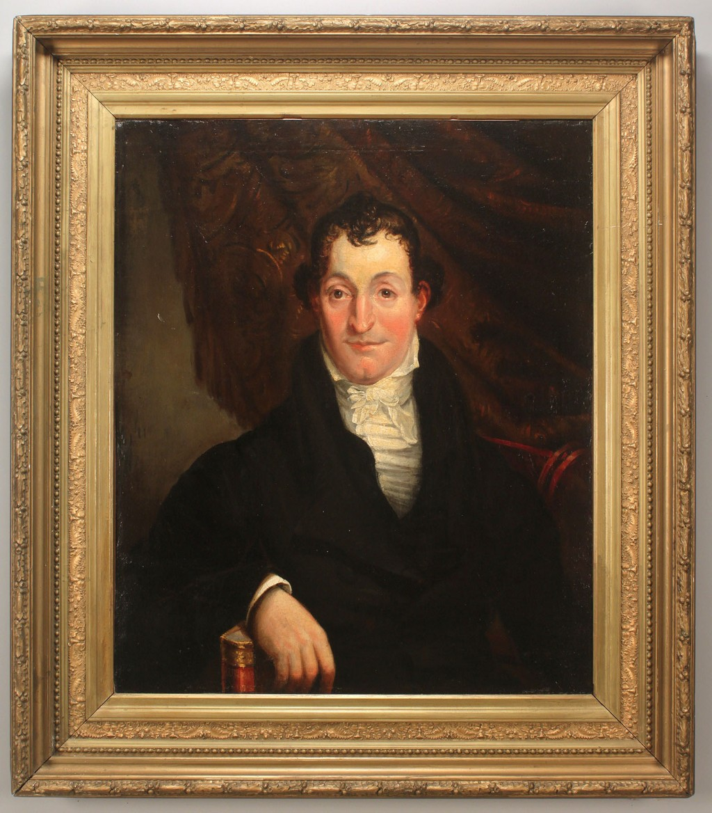 Lot 516: Johann Eckstein, Portrait of Richard Webster, 18th