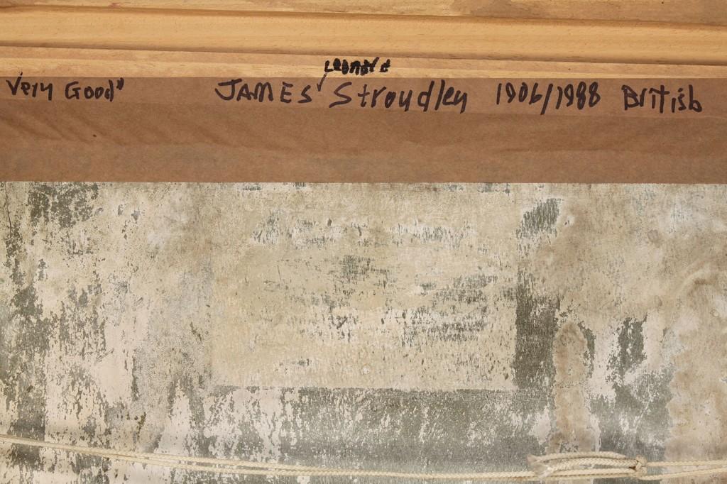 """Lot 517: J. Stroudley, oil on board, """"Freesias"""",  still lif"""
