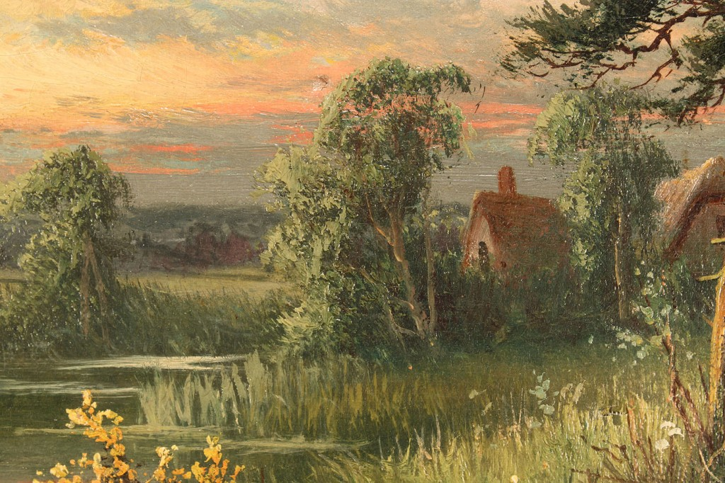 Lot 519: Two British School landscapes, S. Johnson & C. Roe