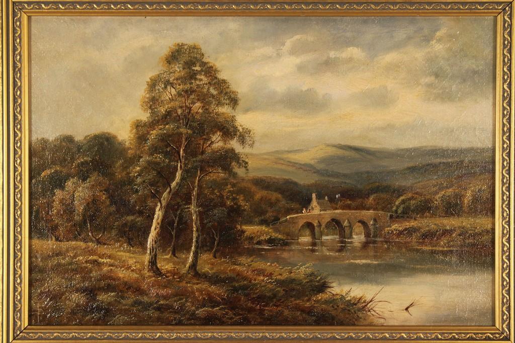 Lot 520: 2 British School landscapes, A. Siddall & S. Johns