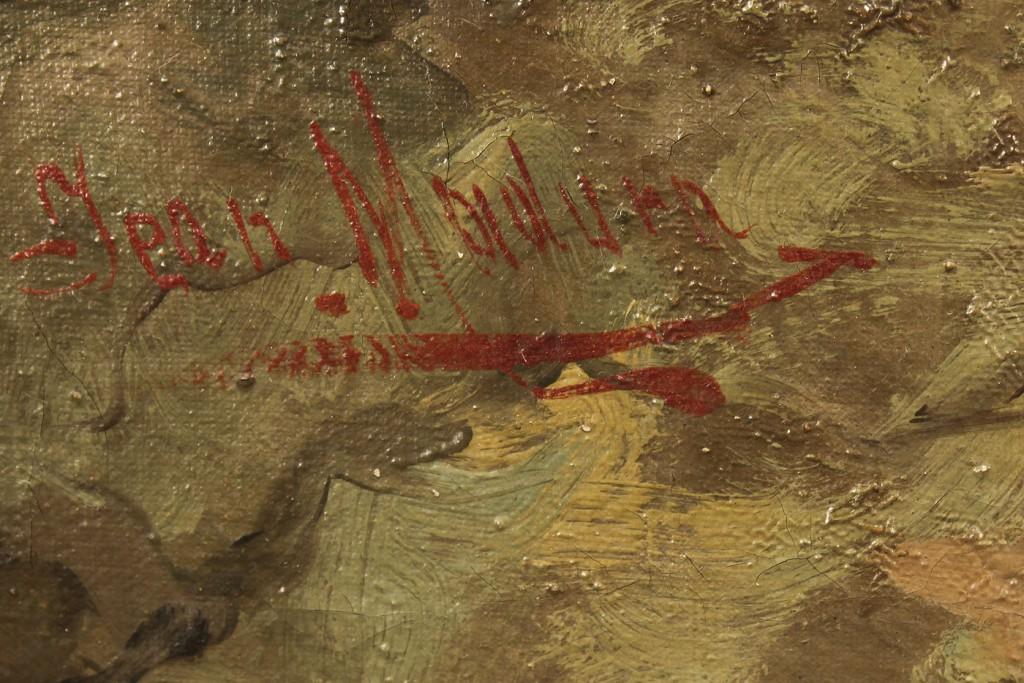Lot 523: Pair of J. Madura oils, Middle Eastern Scenes