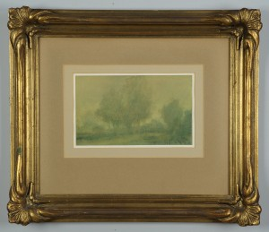 Lot 529: Robert Young Clay watercolor, TN landscape