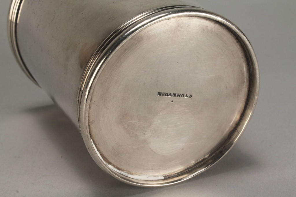 Lot 52: KY coin silver julep cup, McDannold