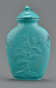 Lot 534: Chinese Carved Turquoise Snuff Bottle