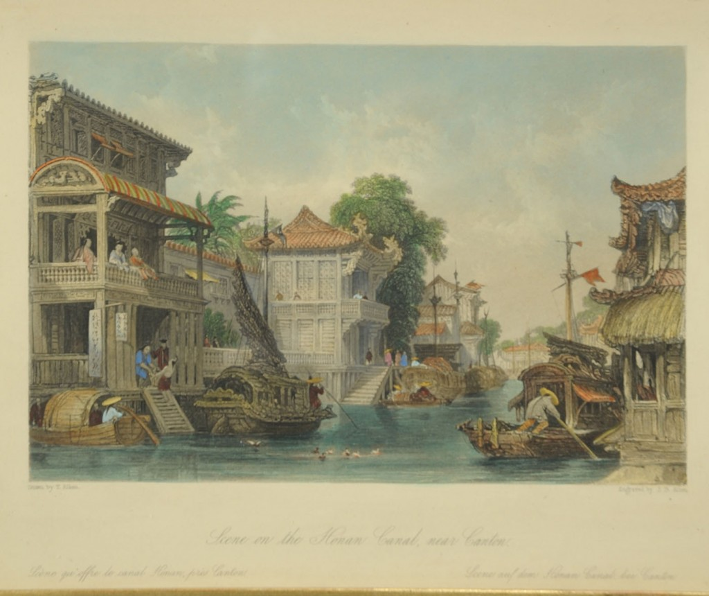 Lot 537: Four 19th c. engravings, Views of China and Asia