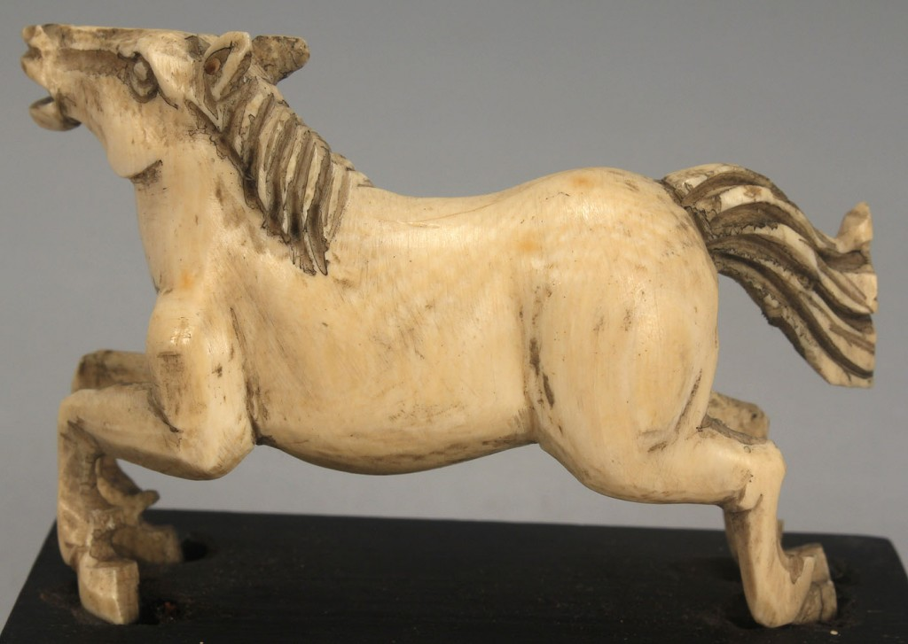 Lot 541: 4 carved ivory Items incl animals