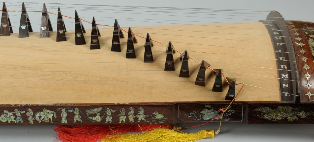 Lot 547: Chinese Gu Zheng or Plucked Zither