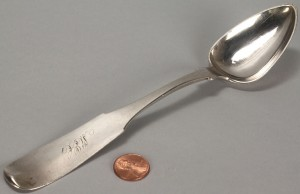 Lot 54: Tennessee Coin Silver Tablespoon, David Hope