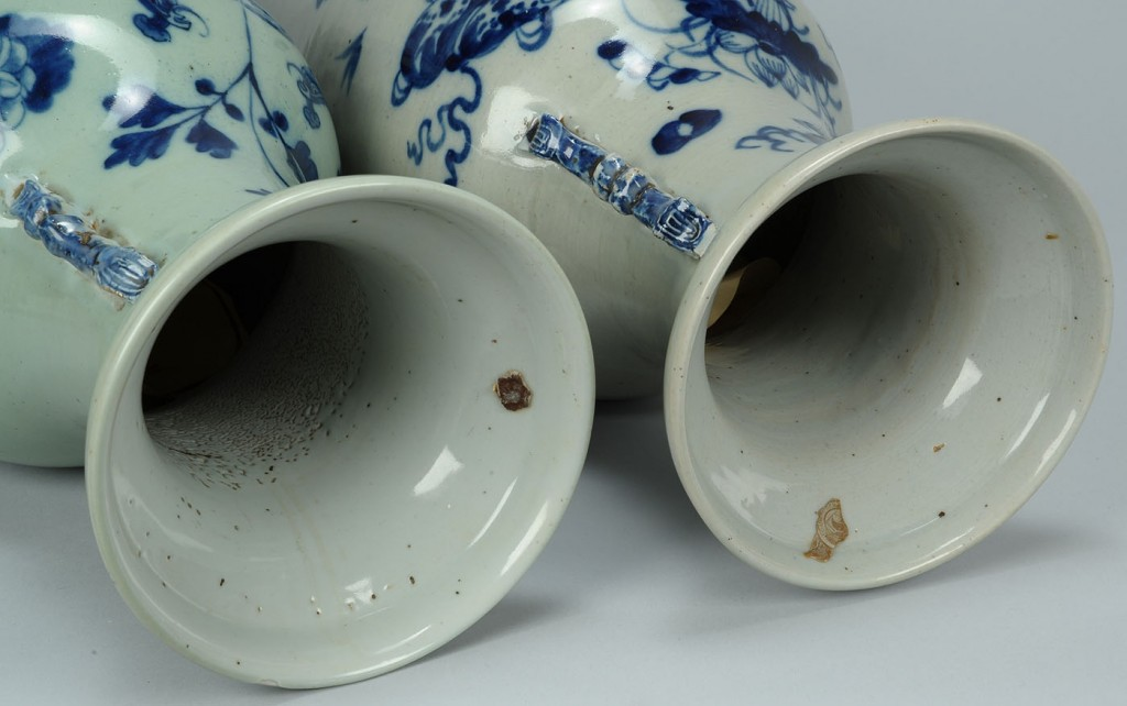 Lot 550: Two Chinese Porcelain Temple Vases