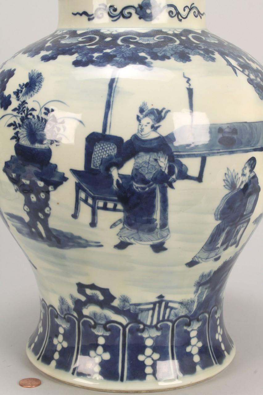 Lot 551: Asian Blue & White Porcelain Ginger Jar