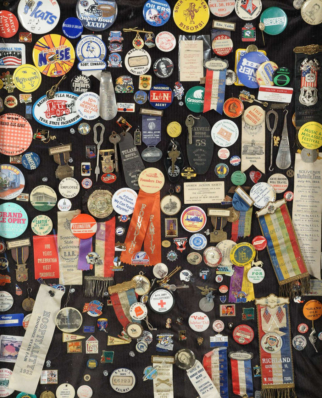 Lot 566: Collection of Pins, Historic Tennessee Interest